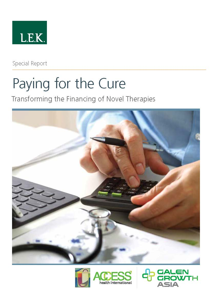 Transforming the Financing of Novel Therapies Report