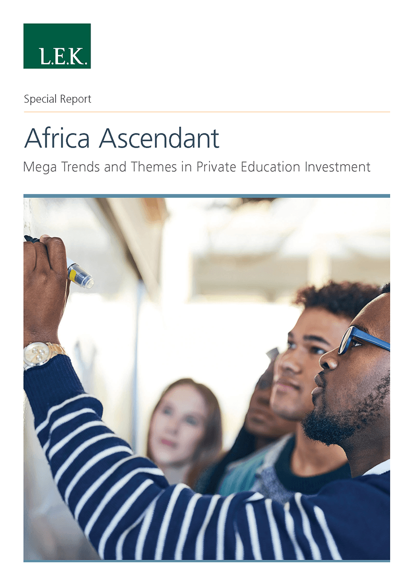Private education investment trends in Africa report