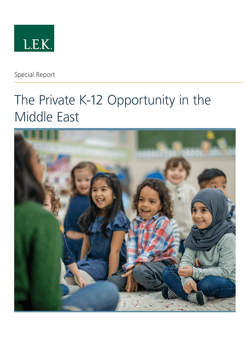 K-12 private education in the middle east report