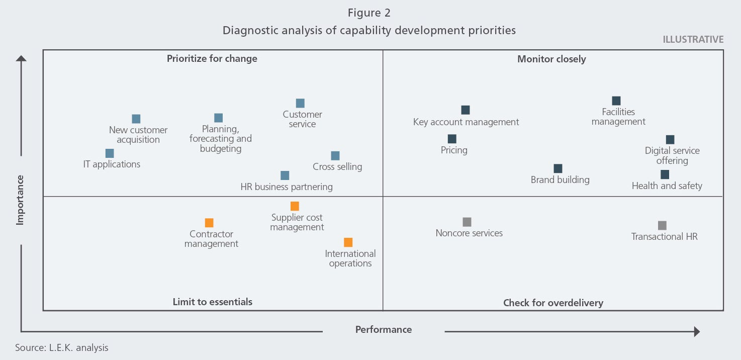 Diagnostic analysis of capability development priorities