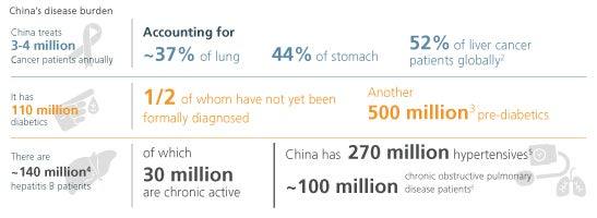 china's disease burden