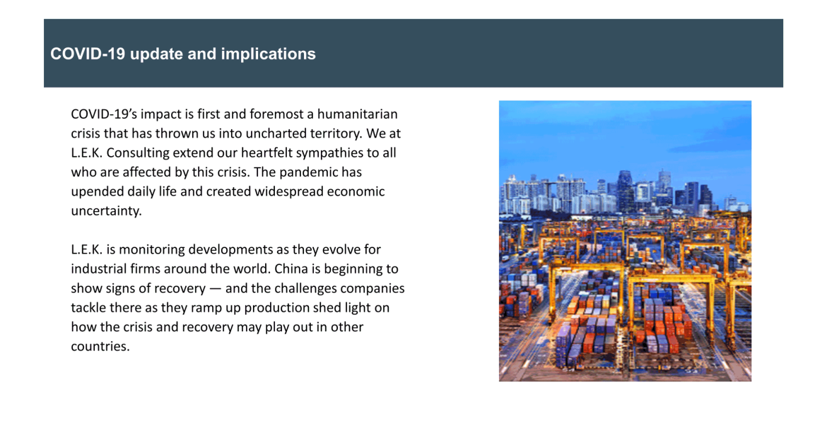 COVID-19 implications on global supply chain