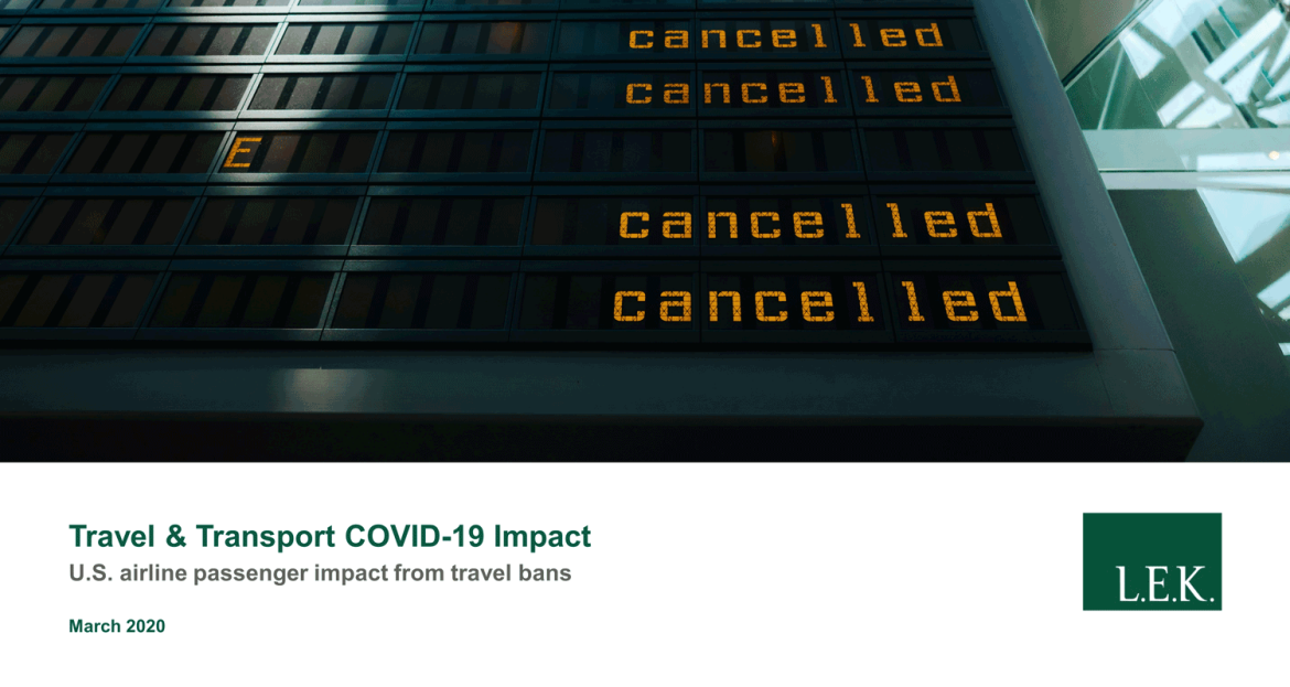 US airline passenger impact report from COVID-19