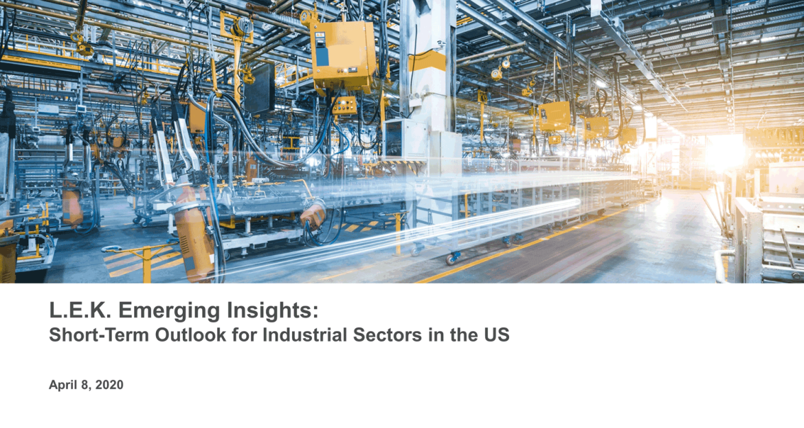 short-term outlook for industrial sectors in the US