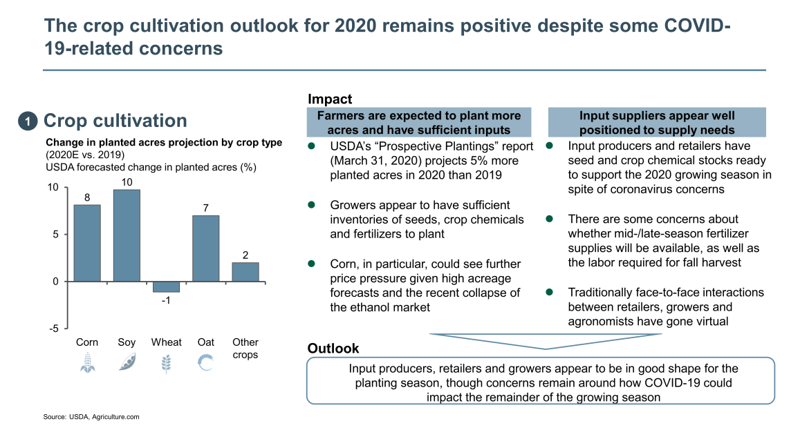 crop cultivation outlook for 2020