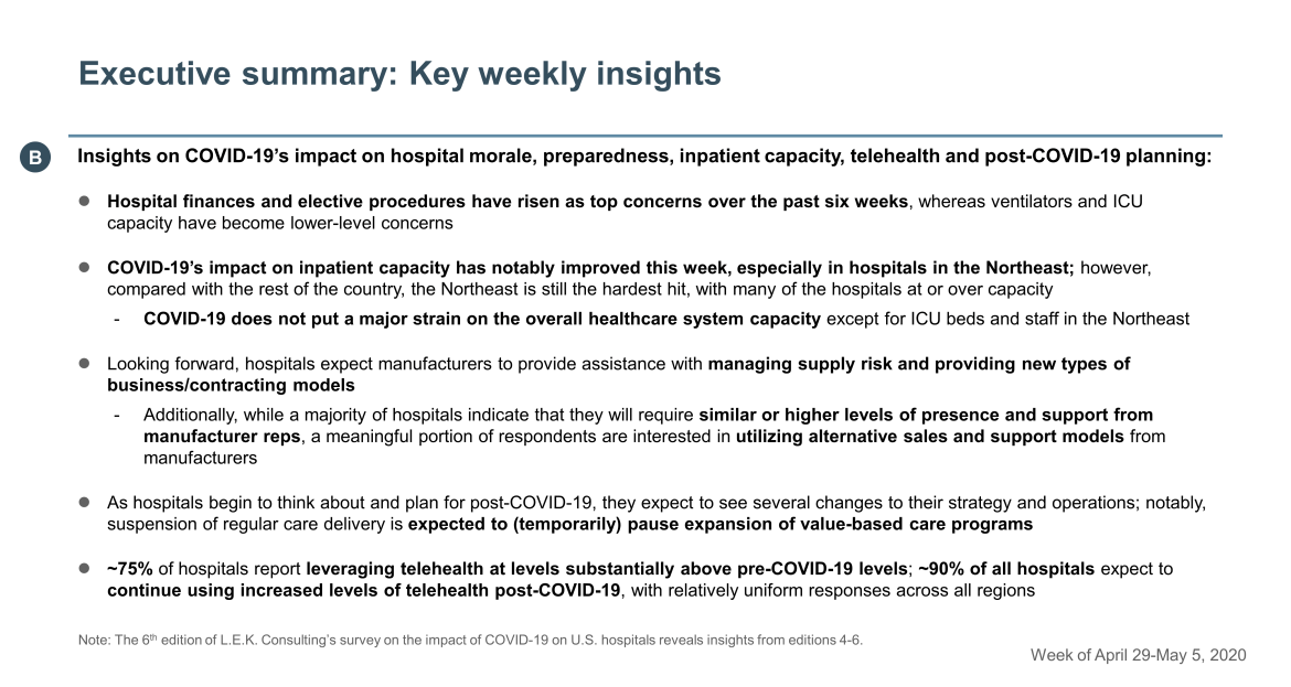 key takeaways on hospital morale