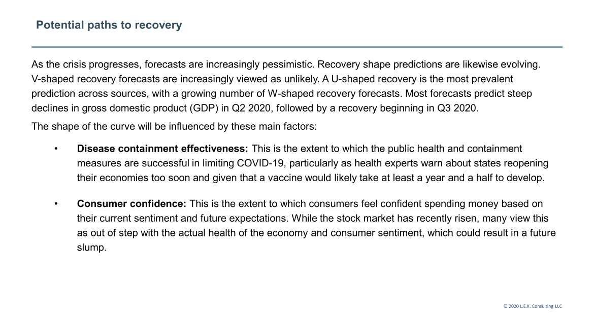 recovery paths for consumer companies