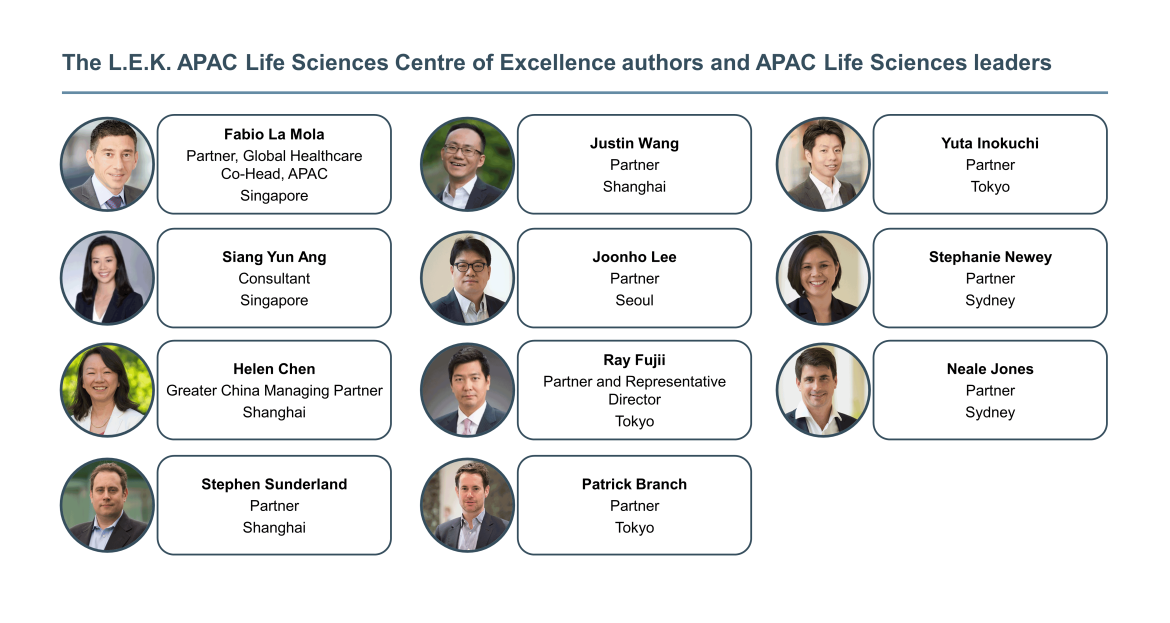 authors and APAC Life Sciences leaders