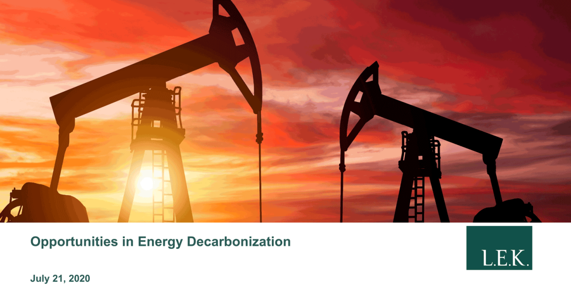 energy decarbonization opportunities