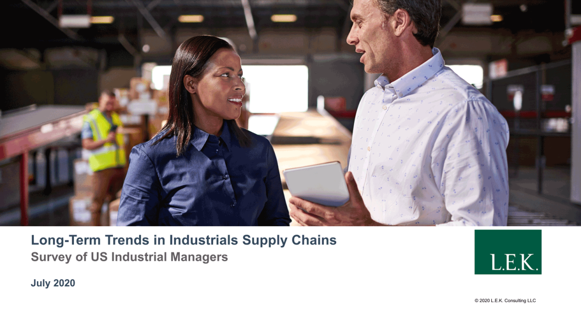 Long-Term Trends in Industrials Supply Chains
